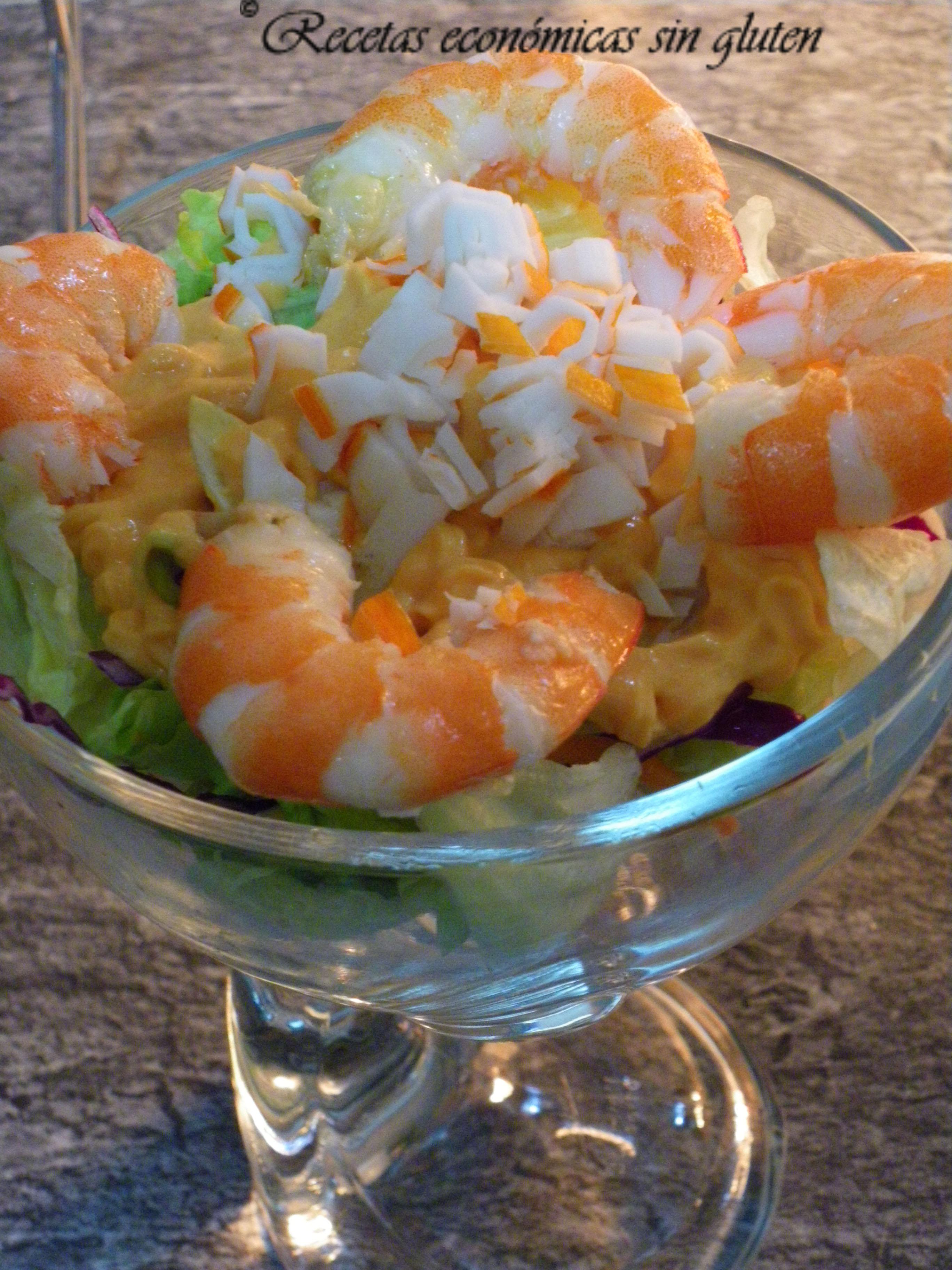 Coctel de marisco cocina econ mica sin gluten - Coctel de marisco ingredientes ...