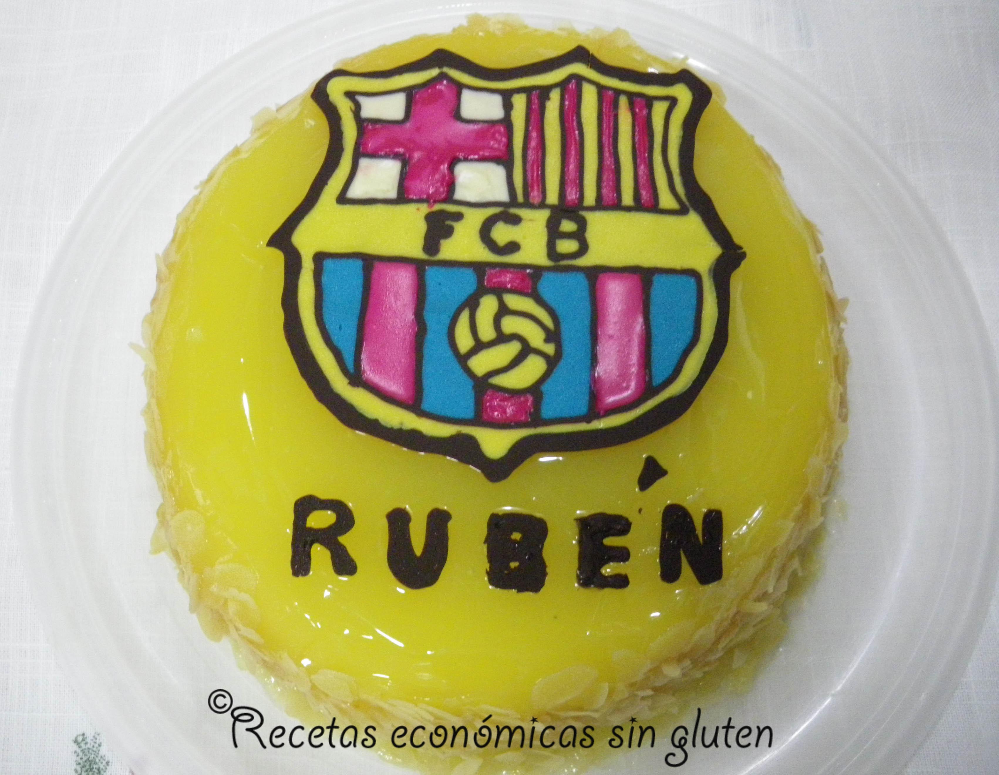 Tarta de cumpleaños sin gluten del F.C. Barcelona – COCINA ECONÓMICA ...
