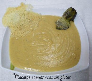 Puré de alcachofas