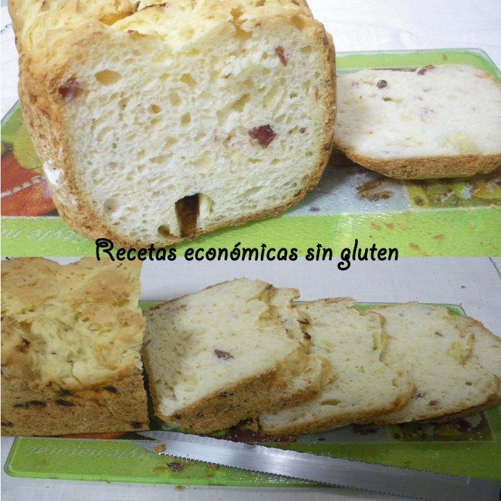 Pan cebolla, queso y jamón